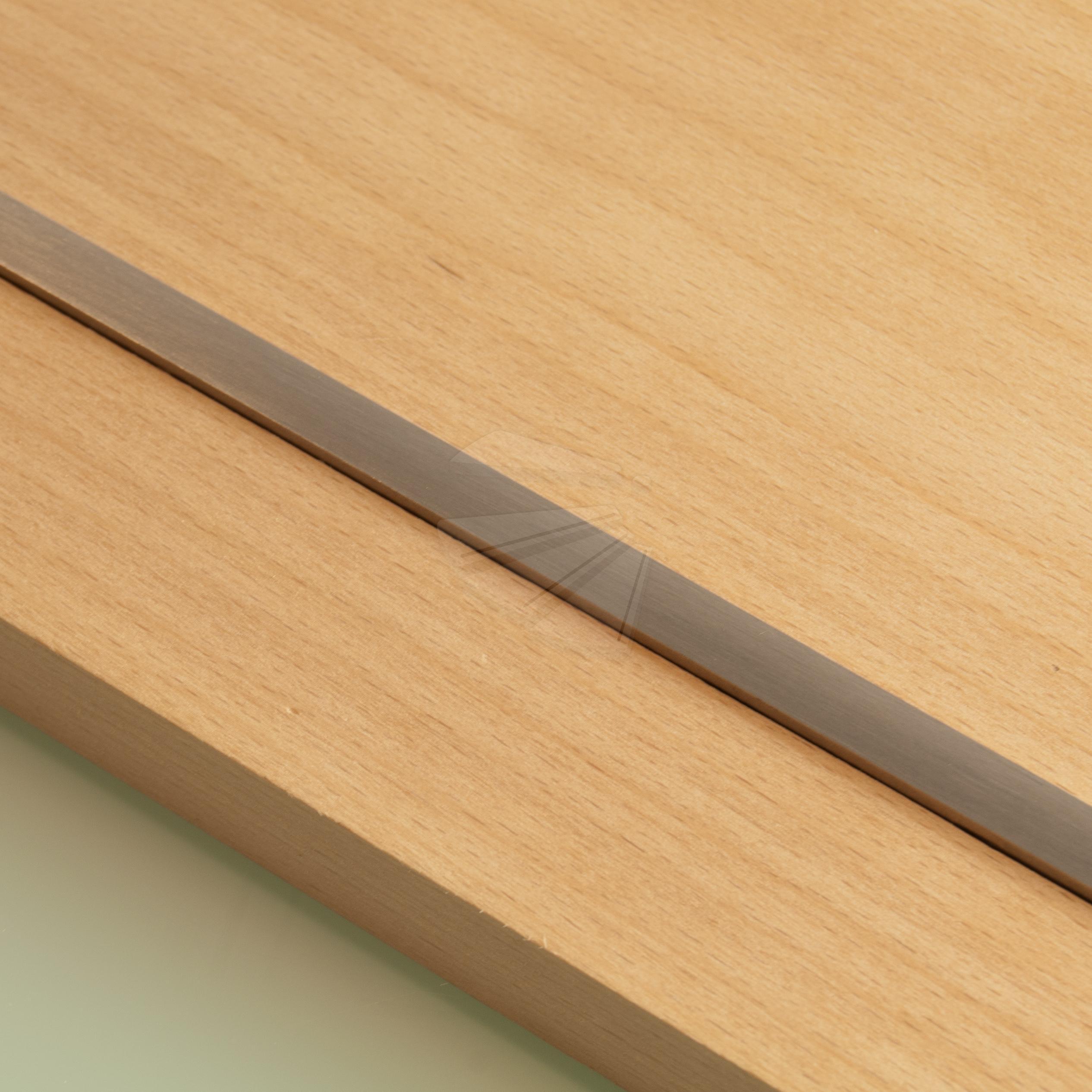 Rvs trapstrip 8mm x 700mm for Hout voor traptreden